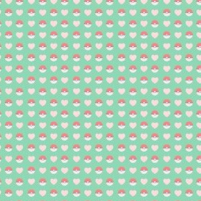 Pokeball Love Teeny Tiny Pokemon Print