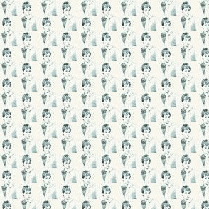 audrey hepburn in blue - tiny