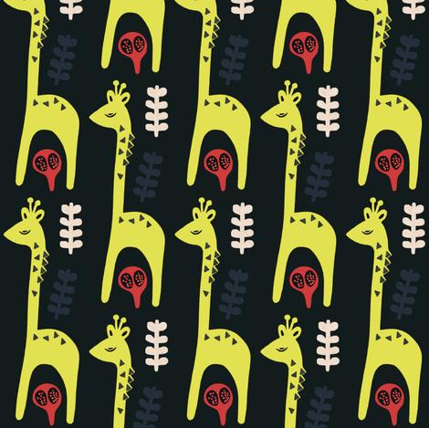 Giraffe fabric by susan_polston on Spoonflower - custom fabric