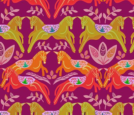 Unicorn fabric by susan_polston on Spoonflower - custom fabric