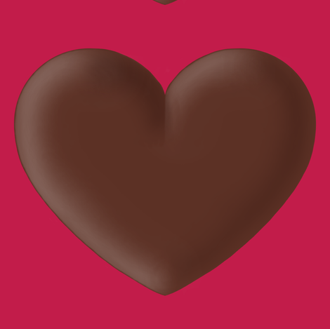 giant chocolate heart