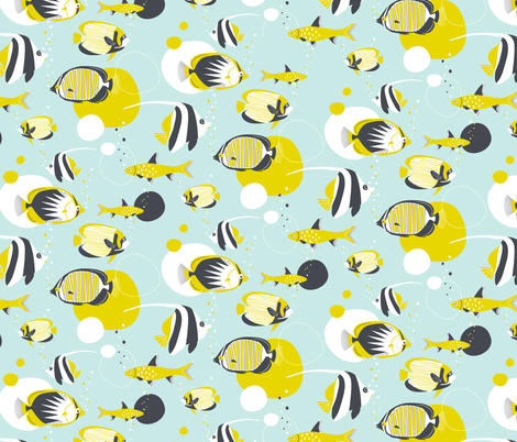 Deep Under The Sea fabric by zesti on Spoonflower - custom fabric