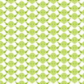 Yoda Print in Light Green