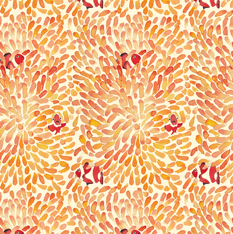 hiding fish fabric by zandloopster on Spoonflower - custom fabric