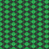 Yoda Print in Green on Dark Gray