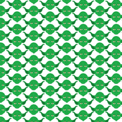 Yoda Print in Green