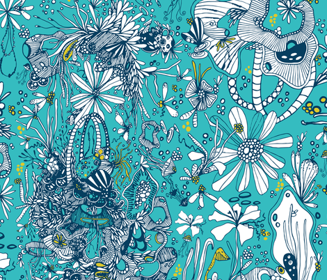 Deep Sea fabric by patriciasodre on Spoonflower - custom fabric