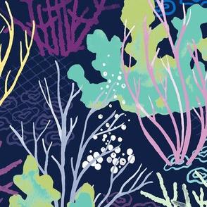 Coral Reef - indigo