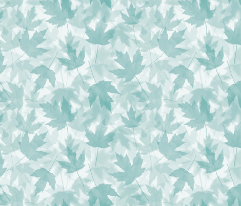 Maple Layers - turquoise fabric by linkolisa on Spoonflower - custom fabric