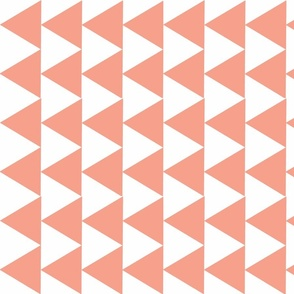 Triangle Contrast Peach