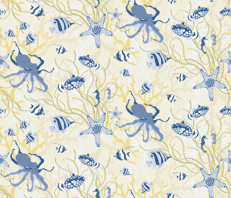 Golden Reef fabric by angelger28 on Spoonflower - custom fabric