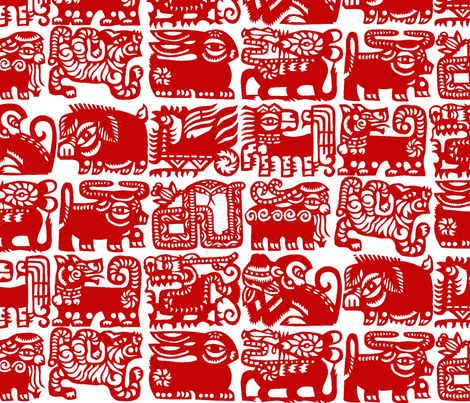 Chinese Zodiac #6 fabric by susiprint on Spoonflower - custom fabric