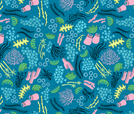 Great Barrier Reef by Emily Balsley fabric by emilybluestar on Spoonflower - custom fabric
