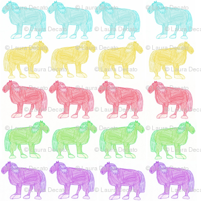 Small Colorful Horses