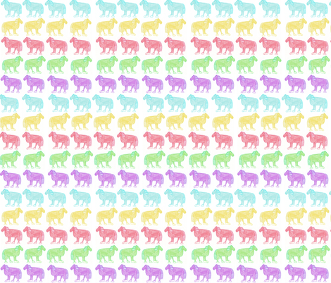 Small Colorful Horses fabric by sunflowerfreckles on Spoonflower - custom fabric