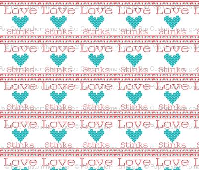 Love_Stinks_Cross Stitch