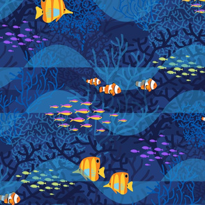 Indigo Dreams with Golden Fishes_24
