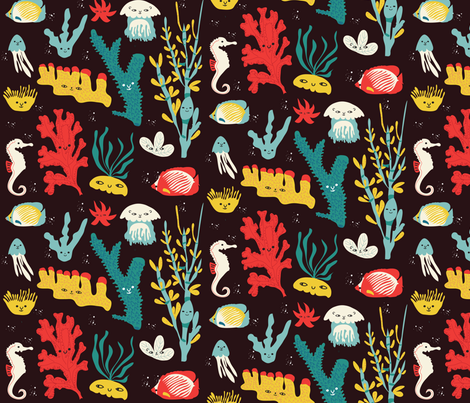 We are so alive under the sea fabric by misslife on Spoonflower - custom fabric