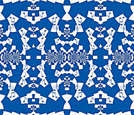 Blue Notes of Jazz fabric by clotilda_warhammer on Spoonflower - custom fabric