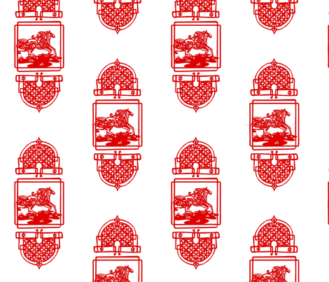 Chinese Year of the Horse fabric by lucky_lucille on Spoonflower - custom fabric