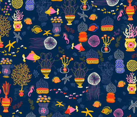 The great barrier garden fabric by irrimiri on Spoonflower - custom fabric