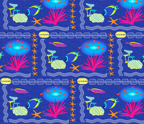 Sotto il Mare (half-brick) fabric by vanillabeandesigns on Spoonflower - custom fabric