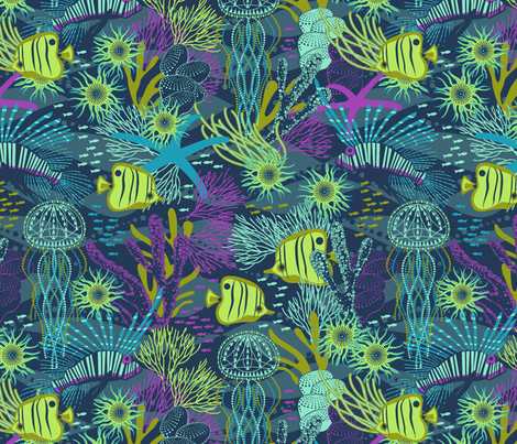 reef life fabric by cjldesigns on Spoonflower - custom fabric