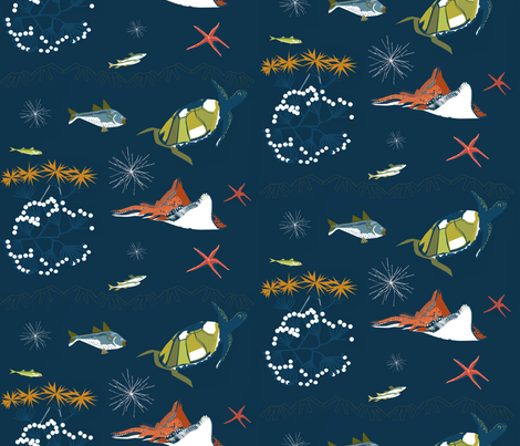 Deep Sea fabric by mirjamauno on Spoonflower - custom fabric