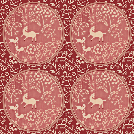Horse Tapestry fabric by susan_polston on Spoonflower - custom fabric