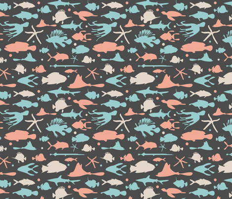 Great_Barrier_Reef_Pattern fabric by konk_press on Spoonflower - custom fabric