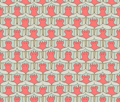 Happy Calcareous Village of Coral Polyps fabric by mongiesama on Spoonflower - custom fabric