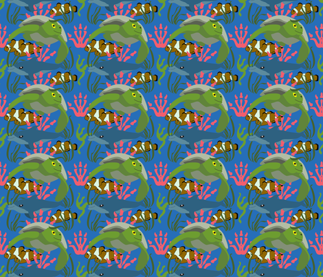 Great Barrier Reef 2 fabric by brandymiller on Spoonflower - custom fabric