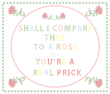 you're_a_real_prick fabric by fiona_sinclair_design on Spoonflower - custom fabric