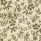 Ditzy Green Floral on Cream