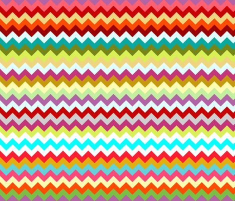 rainbow candy chevron fabric by scrummy on Spoonflower - custom fabric
