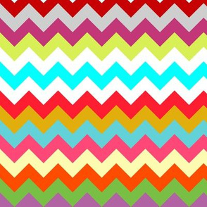 rainbow candy chevron