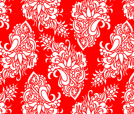 Chinese paisley - cutting design fabric by dariara on Spoonflower - custom fabric