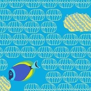 GBR White Seashell Pattern