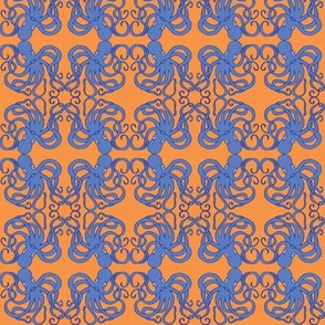 octopus damask in beach bright