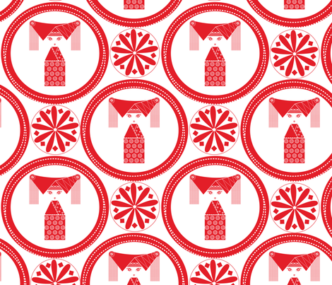 chinese_doll fabric by long_haired_witch on Spoonflower - custom fabric