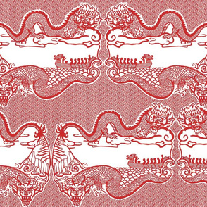 Chinese Dragon Cut Paper Design