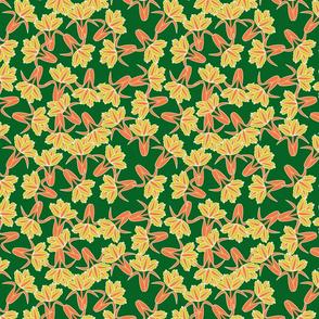 field of tulips_seamless_green