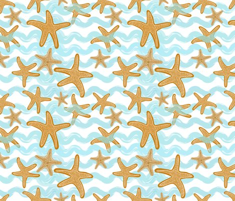 Rstarfish_in_aqua_waves_white_shop_preview