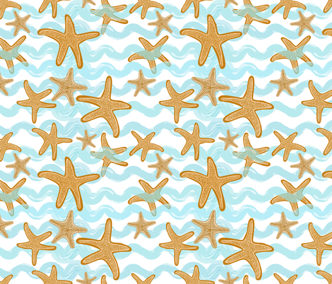 Dance of the Starfish fabric by shellypenko on Spoonflower - custom fabric
