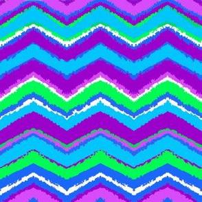 Purple Chalk Chevron