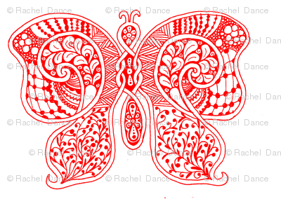 ButterflyFlutterby - xl - true red  - contest