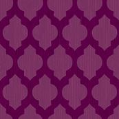 Bohemian Purple Quatrefoil