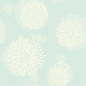 Blue pastel flowers