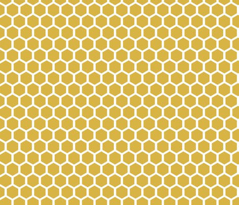 GoldenHoneycomb fabric by mrshervi on Spoonflower - custom fabric