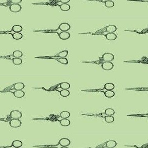 Green Scissors on Green